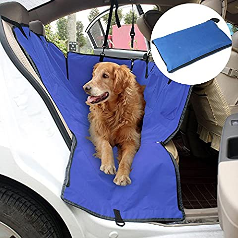 Coprisedile Amaca Copertura Coperta Sedile Mat Hammock Blanket Seat Cover Posteriore Auto per Cane Gatto Animali Impermeabile Universale Dimensione:(L * W): 1,23 M x 1,16 M(Blu)