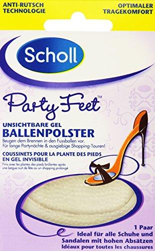Scholl Party Feet Unsichtbare Gel-Ballenpolster (1 x 1 Paar)