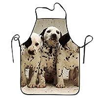 Laohujia Animal Black White Cute Dalmatian Dog Pet Puppy Deluxe Apron