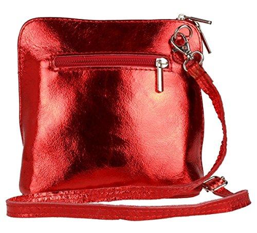 Elegant, Borsa a tracolla donna Metalic Red