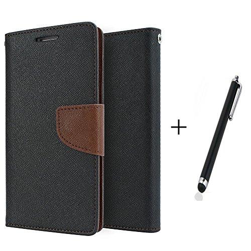 SDO SDO™ Luxury Mercury Diary Wallet Style Flip Cover Case for Lenovo K4 Note - Brown + Pen Style Stylus