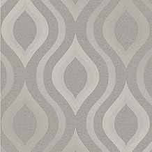 Fine Décor fd41978cuarzo Geo–Papel pintado, color gris