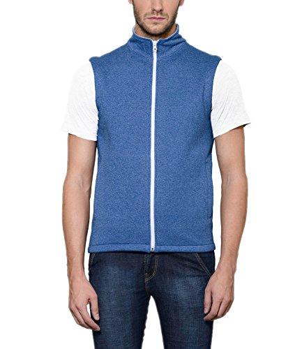 Scott Men's Royal Blue Melange Cotton Sleeveless Jacket - FBA jslv6l