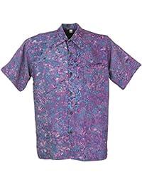 Guru-Shop Hippiehemd, Hawaiihemd, Batik Hemd, Herren, Synthetisch,  Männerhemden Alternative c59aca2525