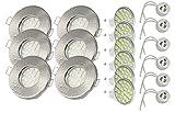 Jungeslicht Hausmarke 6 x spotlights (5 watt LED) för Bad | Dusch | Bastu | IP 65