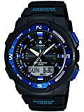 Casio Men's Quartz Watch with Black Dial Analogue - Digital Display and Black Resin Strap SGW-500H-2BVER