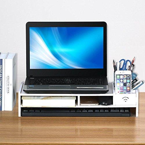 beyondfashionr-desktop-monitor-stand-lcd-tv-laptop-computer-screen-riser-shelf-with-pockets-white