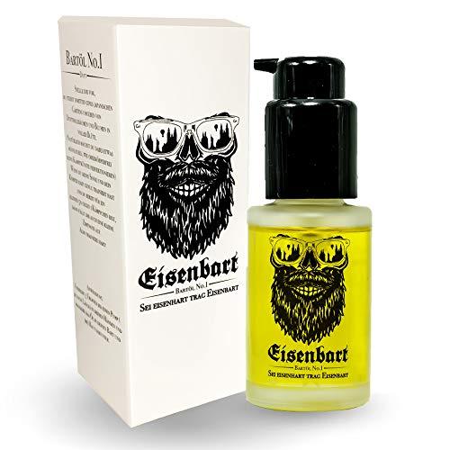 Eisenbart Bartöl No.1 30 ml Premium Bartpflege mit Marula Öl/Holzig + Frisch