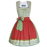 Country Line Damen Trachten-Mode Mini Dirndl Gretl in Grün Traditionell, Größe:42, Farbe:Grün