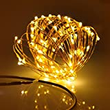 String Lights, Pictek 33ft 100 LED Christmas lights, Outdoor String Lights Fairy lights with Remote Control For Gardens Home Party Patio Indoor Xmas Trees