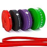 STRONGEAR Premium Pull Up & Fitnessbänder mit digitaler Übungsanleitung -