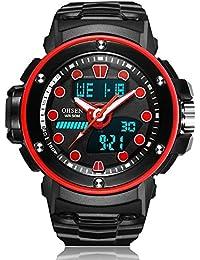 SPORTWATCHES Relojes Hermosos, para Hombre/Mujer Deportes y Ocio Multifuncional Pantalla Digital Movimiento Reloj