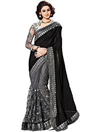 Audacious Women's Designer Georgette Saree With Blouse Piece (AD53_Black_Free Size