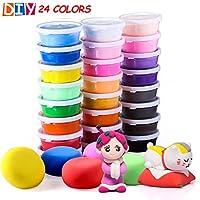 24 colori l'argilla asciutta all'aria, la luce ultra leggera di modellazione, il giocattolo dello studio dell'argilla di QMay magico dell'argilla, l'argilla & la pasta di modellazione non tossica, l'a