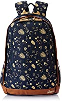 Gear Triumph 26 ltrs Navy Blue and Beige Casual Backpack (BKPTRMP520522)