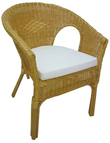 Savino fiorenzo poltrona kelek in vimini bambù rattan e giunco naturale con cuscino