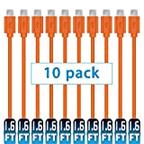 Mopower Micro-USB-Kabel,10 PCS High Speed USB 2.0 A Stecker an Micro B Laden und Synchronisieren Kabel für Samsung Galaxy, HTC, Blackberry und Motorola Smartphones & Tablets Orange ER (10)