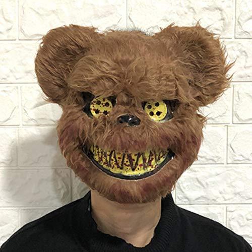 Sonwaohand Blutige Kaninchenmaske Maske Masquerade Ball Schrecken Beängstigend Hooded Halloween Bar Zeigen Requisiten größe 1