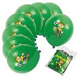 8 Luftballons * FUSSBALL - FRITZ FLANKE * von Lutz Mauder // 66010 // Kinder Kindergeburtstag Geburtstag Einladung Kinderparty Party Jungs Fussballjungs