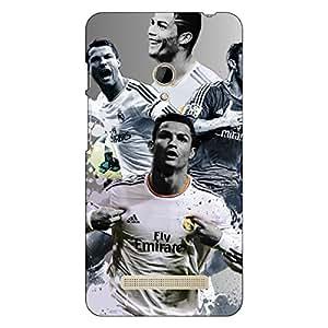 Jugaaduu Cristiano Ronaldo Real Madrid Back Cover Case For Asus Zenfone 5