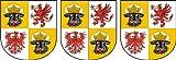 Michael & Rene Pflüger Barmstedt ® 3x Mini Autocollants Mecklembourg Poméranie Occidentale Armoiries Panneau Stickers Vélo Sticker