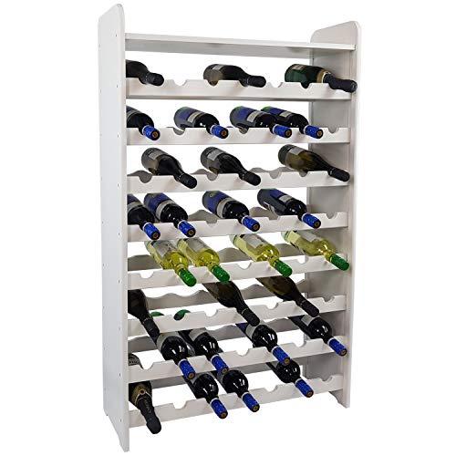 SunDeluxe Weinregal Bacchus Premium für 56 Flaschen - Massives Flaschenregal 72 x 25 x 119cm -...