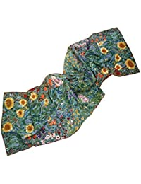 Prettystern - Women's Scarf silk shawl Gustav Klimt art work painter - Many different motifs