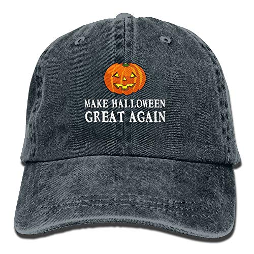 Paint0 2017 Funny Pumpkin Make Halloween Great Again Washed Retro Adjustable Jeans Cap Gym Caps for Adult