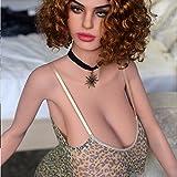 KWDoll Echt Sexpuppe 156cm Liebespuppe Volle Größe Körper Realistische Mund Ass Vagina Große Brust TPE Lebensechte Männliche Liebe Spielzeug (Penny)