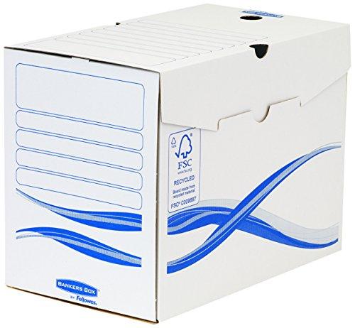 Bankers box 4460402 scatola archivio a4 basic, dorso 200 mm, fsc, confezione da 25 pezzi