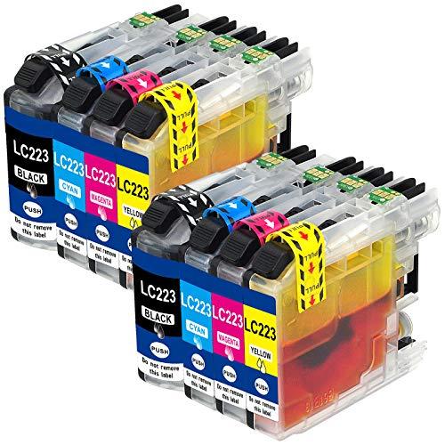 Jagute LC223 Druckerpatronen Ersatz für Brother LC223xl LC-223 für Brother MFC-J4420DW MFC-J4620DW MFC-J4625DW MFC-J5320DW MFC-J5620DW MFC-J5720DW MFC-J5625DW J562DW J480DW DCP-4120DW