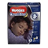 Huggies Overnites Baby Diapers, Size 5 (21 Pieces)