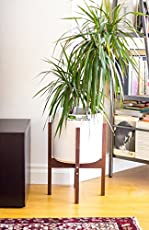 AD Planet Entryway Strong Wooden Plant Stand, Mid Century Indoor Planter