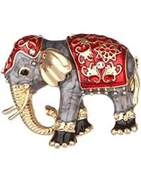 BESTOYARD Broche de Elefante Estilo Vintage Esmalte de Aleación Decoraciones de Ropas Reglo Ideal para Día de Madre para Mujeres Niñas