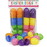 Plastic Easter Eggs 24 Pack Hinged 6 Ass...