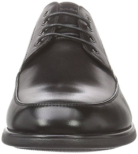 6 Smart Schwarz Oxfords Nero Herren Black Calf Stonefly 000 BZFEqw