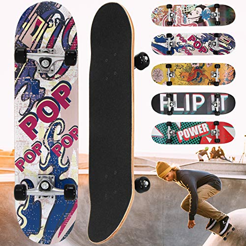 "Physionics Skateboard - 31"" (78,7cm), Kugellager: ABEC 5, Designwahl - Retro-Board, Mini Cruiser, Cruiser Board, Komplettboard"