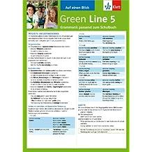 Green Line 5 - Auf einen Blick: Grammatik passend zum Schulbuch - Klappkarte (6 Seiten)