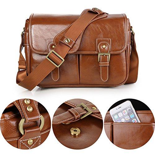Koolertron Waterproof Synthetic Leather Camera Bag c7e63e264