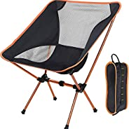 AMERTEER Ultralight Portable Folding Camping Backpacking Chair Compact & Heavy Duty Outdoor, Camping, BBQ,