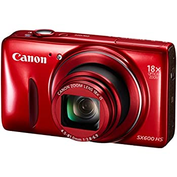 PowerShot SX600 HS Compact Digital Camera - Red (16MP, 18x Optical Zoom, 36x ZoomPlus, WiFi, NFC) 3 inch LCD