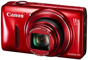 PowerShot SX600 HS Compact Digital Camera - Red (16MP, 18x Optical Zoom, 36x ZoomPlus, WiFi, NFC) 3 inch LCD