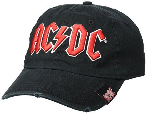 AC/DC Herren Baseball Cap, Schwarz, One Size (Baseball-rock)