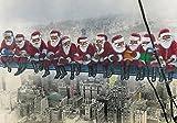 5 x'Babbi Natale a New York', divertenti biglietti di Natale, in set da 5, con buste per lettere, divertenti e originali