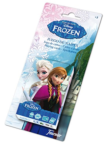 Disney Frozen - Baraja Infantil, Color Negro (Naipes Heraclio Fournier