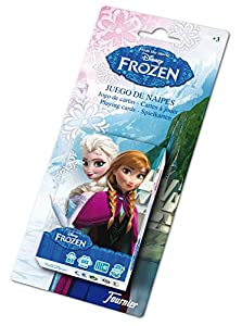 Disney Frozen Baraja de Cartas Infantil, Color Negro (Naipes Heraclio Fournier 1028179)