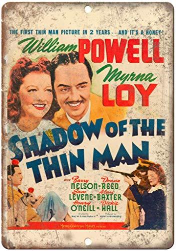 Lorenzo Shadow of a Thin Man William Powell Vintage Metal Vintage Metallblechschild Wand Eisen Malerei Plaque Poster Warnschild Cafe Bar Pub Bier Club Dekoration