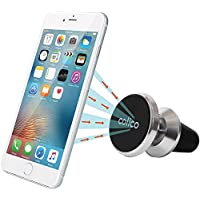 Magnetic Phone Car Mount, colico Aluminum Air Vent Cell Phone Holder and Car Vent Mount, universal for Smart Phones and Mini Tablets, GPS Device and More [Upgrade Versión]