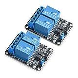 Neuftech 2pcs 5V 2 Kanäle Relais Modul Relaiskarte für Arduino PIC AVR DSP MCU Relay Module