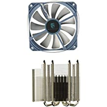 DeepCool CPU 4 heatpipes 120 mm PWM ventilador con LED azul Universal Socket solución GAMMAXX 400